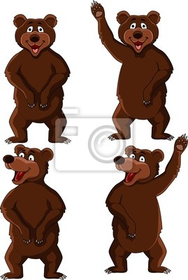 Wall mural Bear cartoon