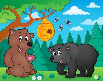 Wall mural Bears in nature theme image 4