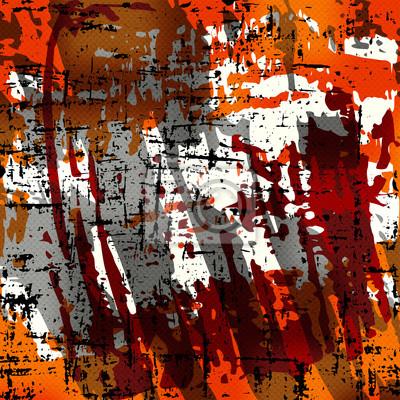 Beautiful abstract orange dark lines graffiti pattern illustration