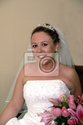 beautiful bride sitting
