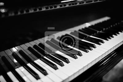 Wall mural Beautiful close-up of piano keys