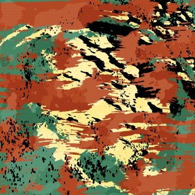 beautiful color abstract pattern illustration of graffiti
