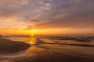 Beautiful, colorful sunset over Baltic sea