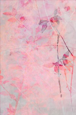 Wall mural Beautiful, delicate, artistic background with leaves