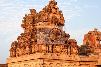 Beautiful details ruins of hampi