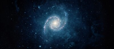 Beautiful galaxy on night sky, star in the space. Lonely galaxy in outer space. Elements of this image furnished by NASA.