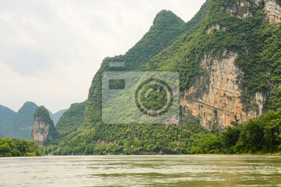 Beautiful karst mountains li river