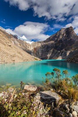 Wall mural Beautiful mountain scenery in the Andes, Peru, Cordiliera Blanca