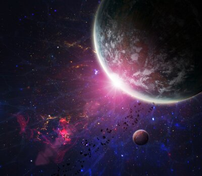 Beautiful space. Elements of this image furnished by NASA