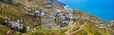 beautiful view of the Taganana village in Anaga mountains, Tenerife, Canary Islands,Spain-Panorama