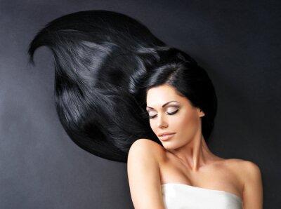 Wall mural Beautiful  woman with long straight hair