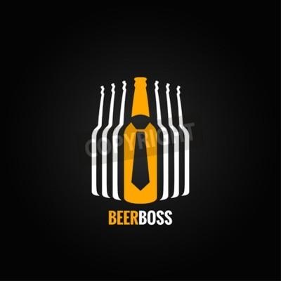 Wall mural beer bottle boss concept design background
