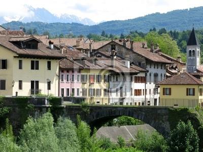Belluno Historical Bridge Houses