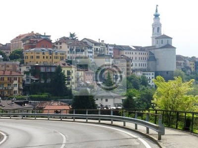 Wall mural Belluno Road Town Italy