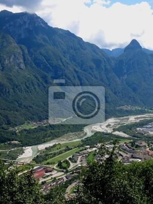 Belluno Valley Italy Aerial
