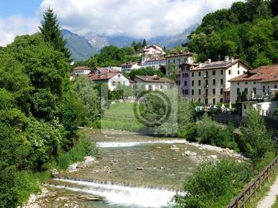 Belluno Village River Italy