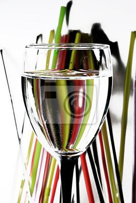 Bicchiere con cannucce