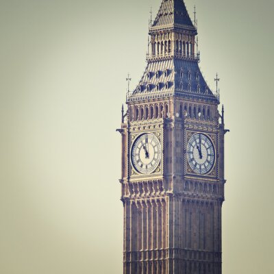 Wall mural Big Ben in Westminster, London, with Instagram effect filter