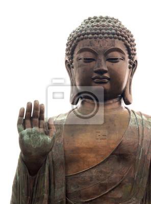 Big buddha isolated on white