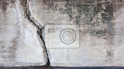 Big crack in concrete wall