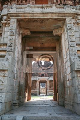 Big doorway at ruins in hampi