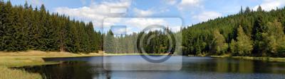 big mountain lake panorama