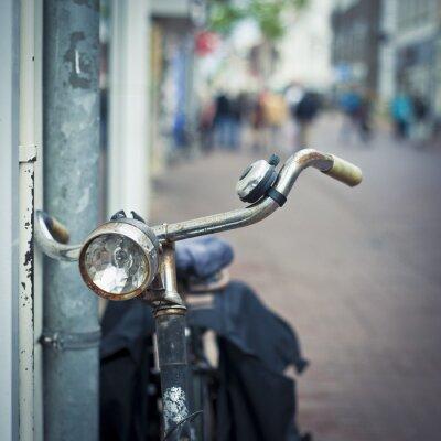 Wall mural bike in amsterdam