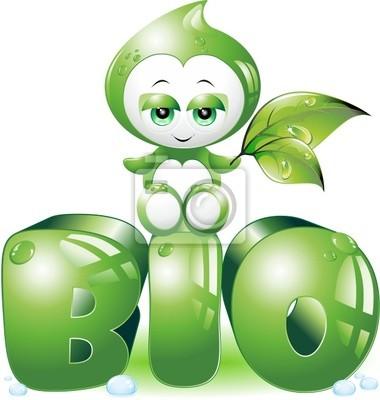Bio Goccia Cartoon-Biological Drop-2-Vector