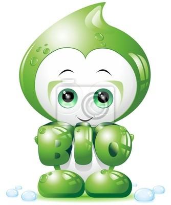 Bio Goccia Cartoon-Biological Drop-Vector