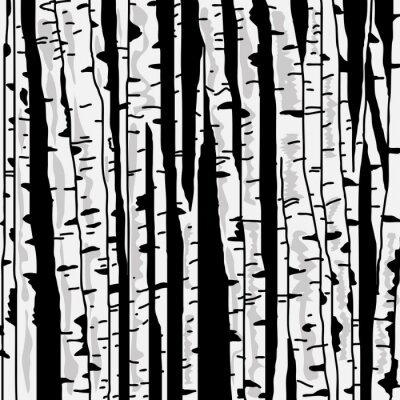 Wall mural Birch three for you design