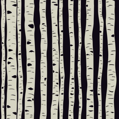 Wall mural Birches in vector
