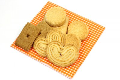 Wall mural biscuits