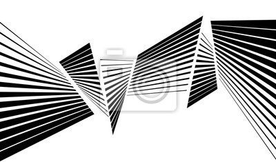 Wall mural black and white stripe line abstract graphic optical art background