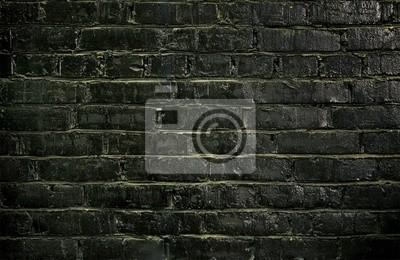 Wall mural black brick wall