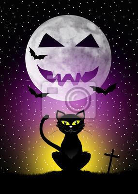 Black cat of Halloween