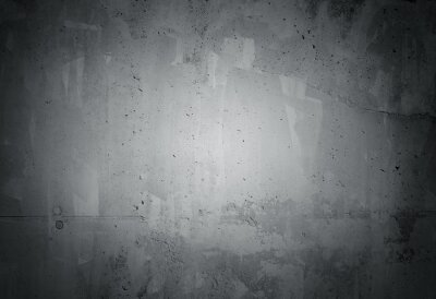 Wall mural Black grunge weathered concrete wall texture