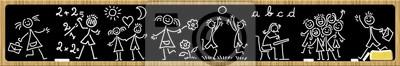 Blackboard Blackboard School -School - Ardoise école -Banner