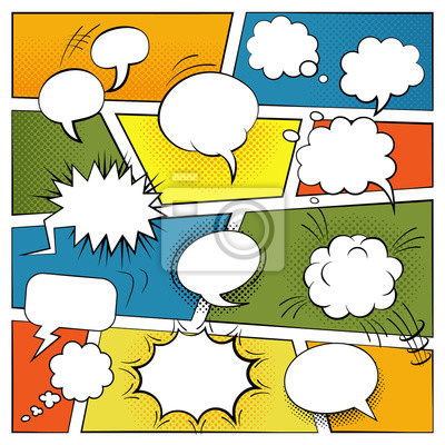 Wall mural  Blank Comic Bubbles Set