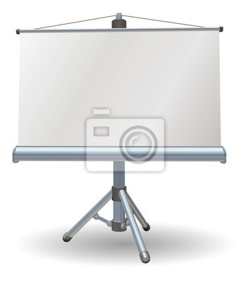 Wall mural Blank presentation or projector roller screen