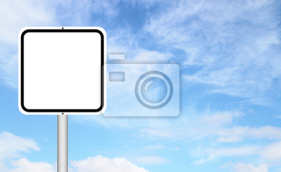 blank sign with blue sky
