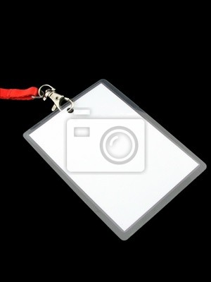 Blank vip pass isolated on black background