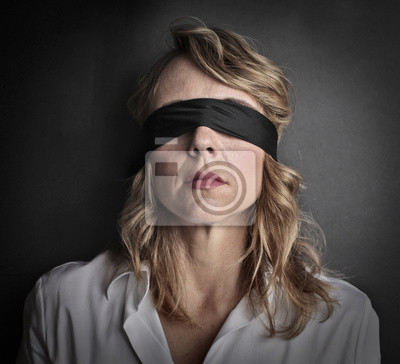 Blind woman