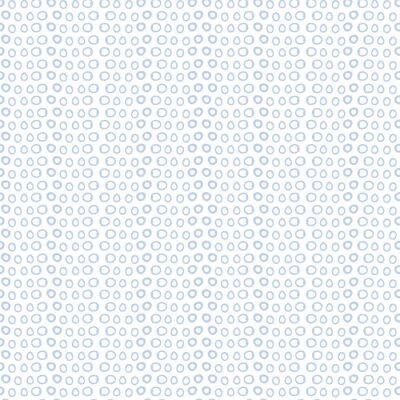 Wall mural blue and white circles background icon. Wallpaper decoration. Vector illustration