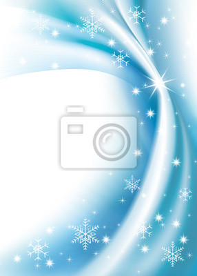 blue background and snowflake