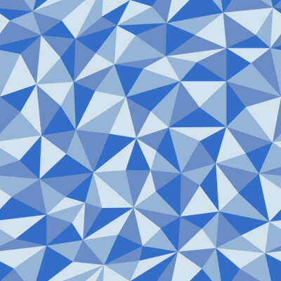 Wall mural Blue Crumpled  Paper  With Geometric Seamless Pattern