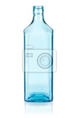 Blue empty bottle