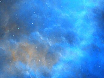 Wall mural Blue glowing nebula fractal