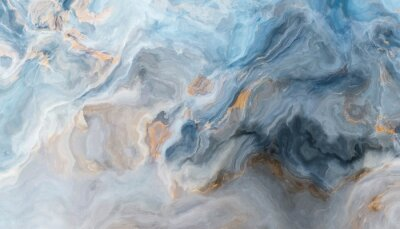 Wall mural Blue marble background