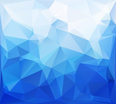 Wall mural Blue Polygonal Mosaic Background, Creative Design Templates