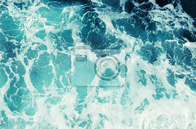 Blue sea texture with waves